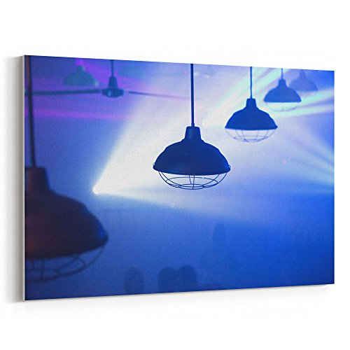 Dark Blue Water Goblet - Westlake Art - Light Fixture - 12x18 Canvas Print Wall Art - Canvas Stretched Gallery Wrap Modern Picture Photography Artwork - Ready to Hang 12x18 Inch (8B1B-D0B99)