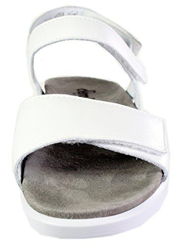 Semler Sandalias de Vestir de Piel Lisa Para Mujer Weiß