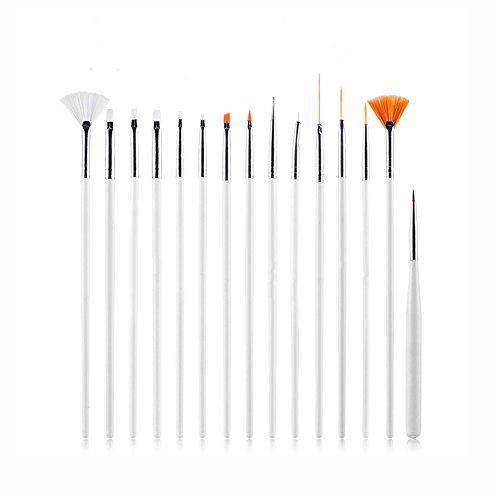 SK 15 Piece Decorating Painting Brushes, Fondant Sugar Craft Clay DIY Tools Set, Nail Art, Painting Pen Brush