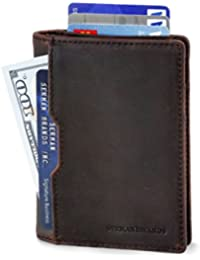 Wallets for Men Slim Mens leather RFID Blocking Minimalist Card Front Pocket Bifold Travel Thin