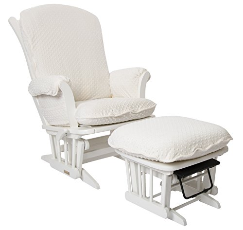 Luxe Basics Cover Me Glider Chair Cover, Ivory Dot (Best Chairs Inc Glider Rocker compare prices)