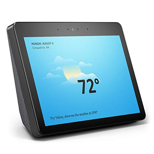 All-new Echo Show (2nd Gen) - Premium sound and a vibrant 10' HD screen - Charcoal