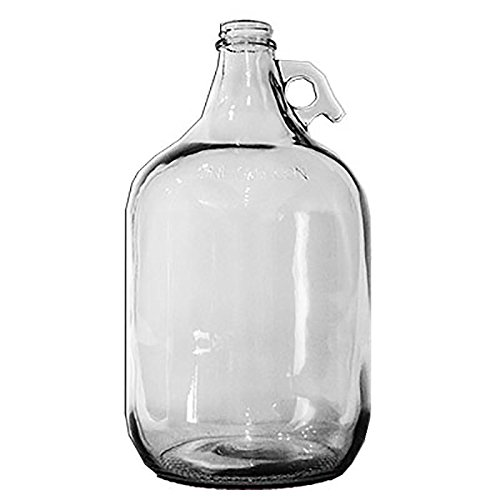 Home Brew Ohio Glass Water Bottle Includes 38 mm Metal Screw Cap, 1 gallon Capacity