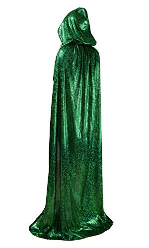 OurLore Unisex Full Length Hooded Cape Halloween Christmas Adult Cloak (Small, Green)