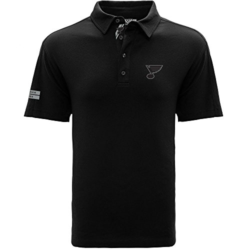 St Louis Blues Shirts - NHL St. Louis Blues Men's Reign Dart Polo, Medium, Black