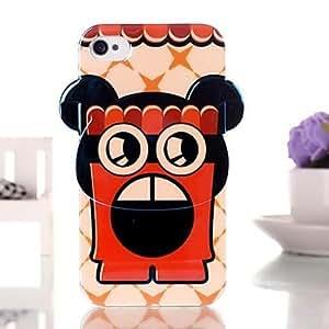 DUR Cute Cartoon Robot TPU Soft Case for iPhone 4/4S