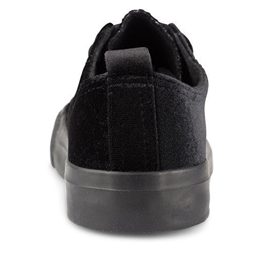 Sneakers Girocollo Donna Kix In Velluto Nero