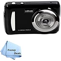 14 Mega Pixel Point and Shoot Camera and video with included editing software + FrenzyDeals Microfiber Cloth