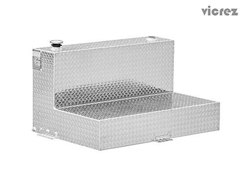 Vicrez Aluminum Tank L-Shape 95 Gallons Refueling Fuel Transfer Tank VZT100003