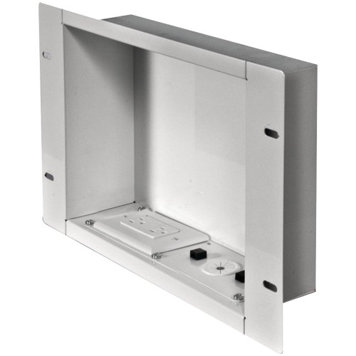 Peerless IBA2AC-W in-Wall Metal Box Large with Knock Out and Power Outlet (Large)