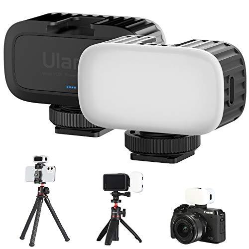 VL30 Super Mini Video Light, Pocket Soft Light Rechargeable 5600K 95+ High Brightness Long-Lasting Vlog Fill Light for iPhone Gopro Hero 5 6 7 8 9 Black DJI Osmo Pocket 2 Action Camera Accessory