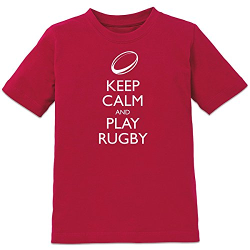 Shirtcity Keep Calm And Play Rugby Kids' T-shirt 98-104 (104 Rugby)