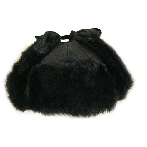Kangol Men's Wool Ushanka Hat, Black