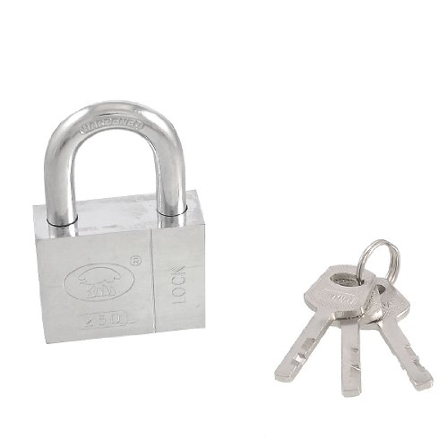 uxcell Home Door Gate 50mm Silver Tone Security Lock Padlock w 3 Keys by uxcell