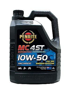 Penrite MC-4 Semi Synthetic 10W-50 Motorcycle 4 Stroke Oil, 4 Litres Penrite Oil Company