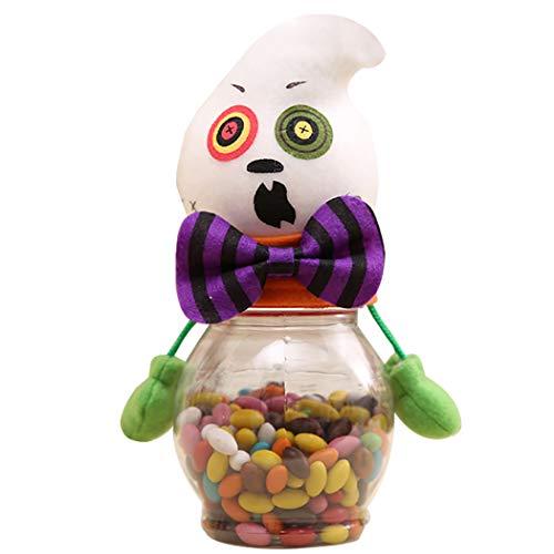 JUSTDOLIFE Candy Jar Halloween Pumpkin Candy Storage -