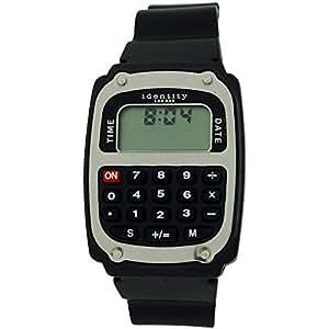 Identity London Retro (2836784) Reloj Correa PU Calculadora Digital Chicos-Caballeros