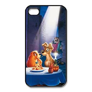 Personalized Durable Cases iPhone 4,4S Phone Case Black Lwpxv Lady and the Tramp Protection Cover