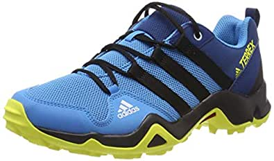 Adidas, Terrex Ax2R Trainers, Boys, Shock Cyan/Black/Shock Yellow, 1 US