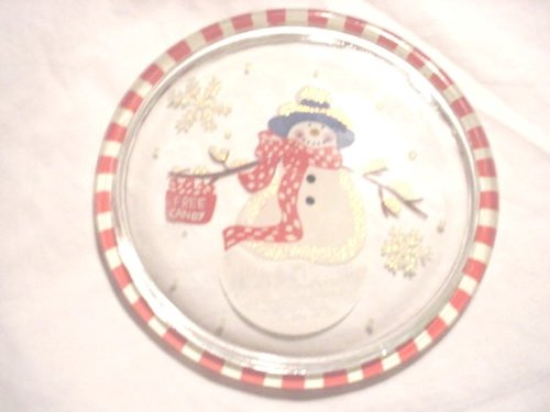 Snowman Decorative Plates - Hallmark Snowman Hand Painted Decorative Holiday Plate