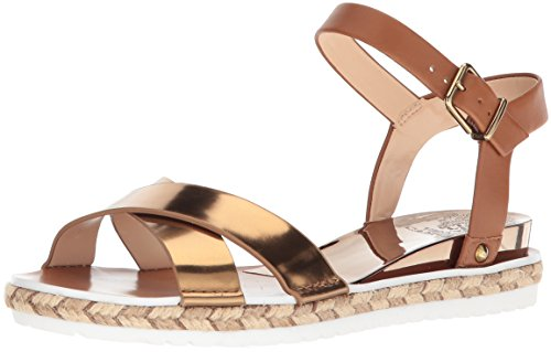 Vince Camuto Women's Kankitta Sport Sandal, Summer Cognac Combo, 10 Medium US by Vince Camuto