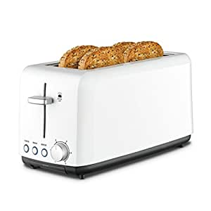 Kambrook Wide Slot Toaster 4-Slice, White KTA140WHT