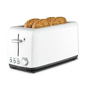 Kambrook Wide Slot Toaster 4-Slice, White KTA140WHT