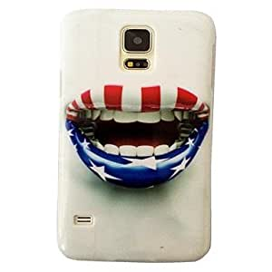 Mini - United States National Flag Lip Pattern Plastic Hard Mobile Phone Case for Samsung Galaxy S5 I9600