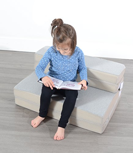 Milliard Toddler Nap Mat Sofa Bed Folding Mattress, Travel Foldable Foam Couch Sleeper - Adult Quality in Kid Size! (28 x 53 x 2.5 inches)