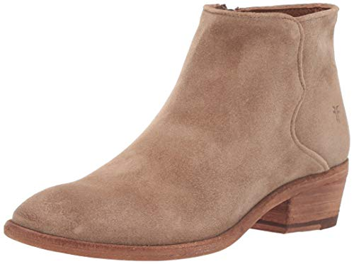 FRYE Women's Carson Piping Bootie Ankle Boot, Beige, 8 M US (Womens Ankle Boots Size 8)