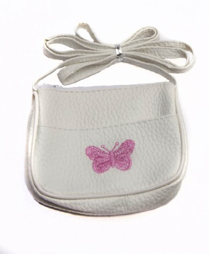 for Butterfly White Purse Handbag Girls Small Little Shoulder Ideal Stocking Embroidered Fillers Girls gwF6Z6q