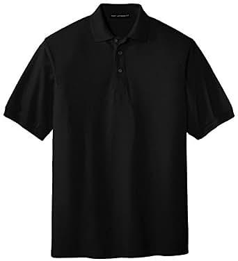 Port authority men 39 s silk touch polo t shirt at amazon men for Mens silk shirts amazon