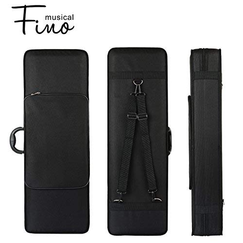 1/2 Size Violin Case,Fino Professional Oblong Violin Hard Case mit Built-bei Hygrometer,Super Lightweight Portable Carrying Bag Slip-auf Cover mit Backpack Straps (1/2)