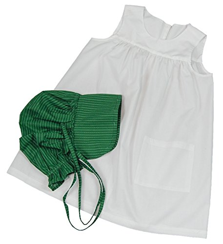 Outfit Up Dress (Little House on the Prairie Child-size Apron and Bonnet. One-Size Fits Most! Child's Dress Up Outfit Pairs Perfectly with The Queen's Treasures Little House on the Prairie Dress for 18)