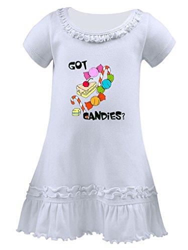 Colorful Got Candies Ruffle Short Sleeve Dress - 6 Mo Thru 7T 6 Months