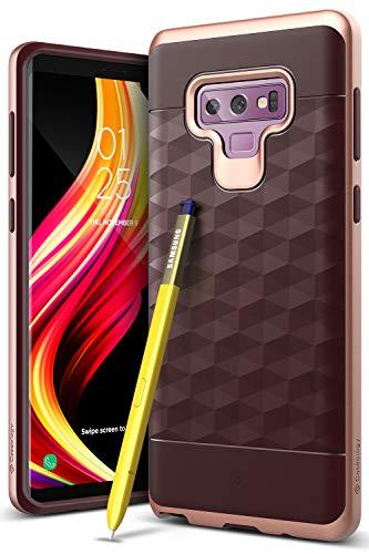 Caseology [Parallax Series Galaxy Note 9 Case - [Award Winning Design] - Burgundy/Rose Gold