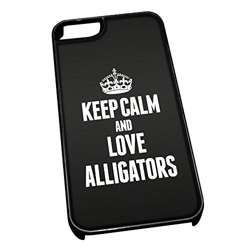 Nero cover per iPhone 5/5S 2389nero Keep Calm and Love Alligators