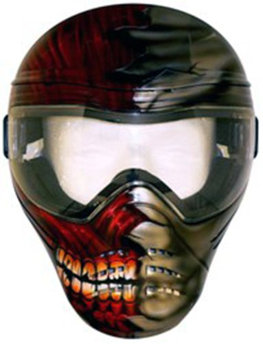 Save Phace Tagged Series Flesh Tactical Mask with Half Face/Half Bone Graphic by ACK, LLC