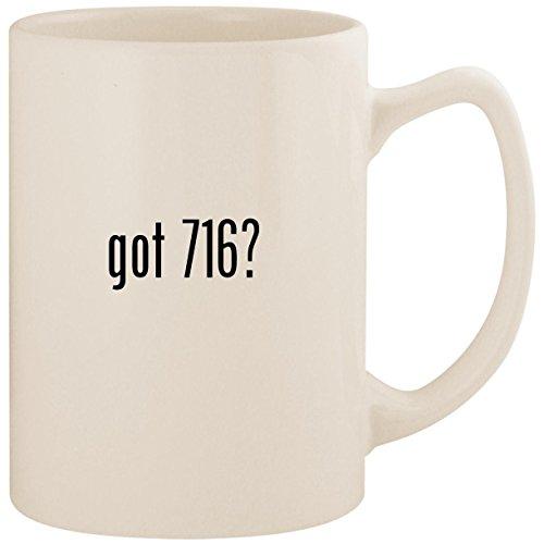 got 716? - White 14oz Ceramic Statesman Coffee Mug Cup ()