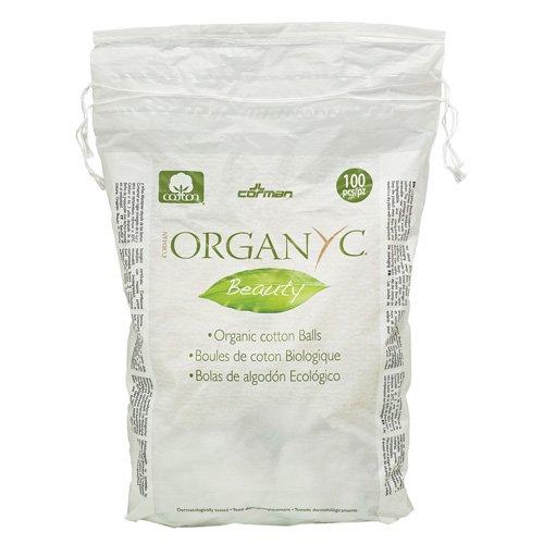Organyc Cotton Balls - 100 Percent Organic Cotton - Beauty - 100 Count (Pack of 2)
