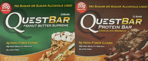 Quest Bar Sweet Lovers Bundle Peanut Butter Supreme and Chocolate Brownie