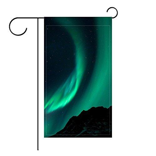 YourPink Garden Flag Northern Lights Night Night Sky Phenomenon 12x18 inches(Without - Northern Light Garden