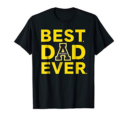 (Appalachian State Mountaineers Best Dad Ever T-Shirt )