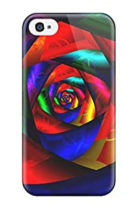 Case Cover Colorful Rose Fashionable Case For Iphone 4/4s
