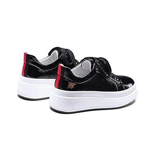 UK3 Chaussures Compensées Chaussures Casual Femme Sport Chaussures Black Taille Couleur Chaussures CJC EU35 de Plates Blanc qWTx6XHgqn