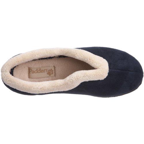 Padders - Zapatillas de casa para mujer Azul oscuro