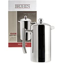 Large Stainless Steel French Press Coffee Maker - Double Wall Tea Or Coffee Press - 36 Oz (1 Liter) - With BONUS EXTRA Filter