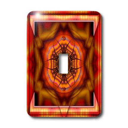 (3dRose lsp_26775_1 Mandala Meditation Harmony Innerpeace Red Pink Gold Zen Joy Chakra Energy Glowing Newage Single Toggle Switch )
