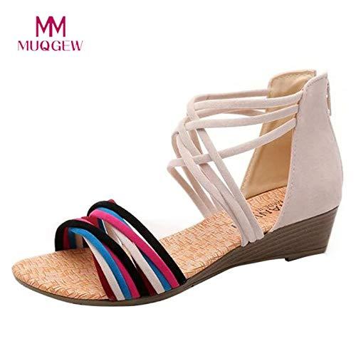 edf0a3fb10620 Amazon.com: Women Summer Bohemia Slippers Flip Flops Flat Sandals ...