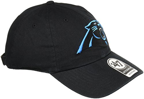 '47 NFL Carolina Panthers Clean Up Adjustable Hat, Black, One Size -